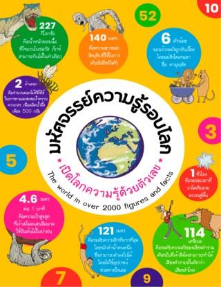 มหัศจรรย์ความรู้รอบโลก-เปิดโลกความรู้ด้วยตัวเลข-หน้าปก-ookbee