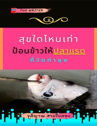 หน้าปก-สุขใดไหนเท่า-ป้อนข้าวให้ปลาแรด-ที่วัดท่าซุง-ookbee