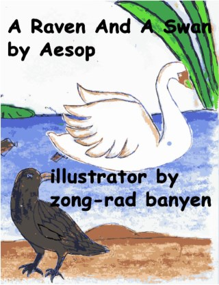a-raven-and-a-swan-by-aesop-หน้าปก-ookbee
